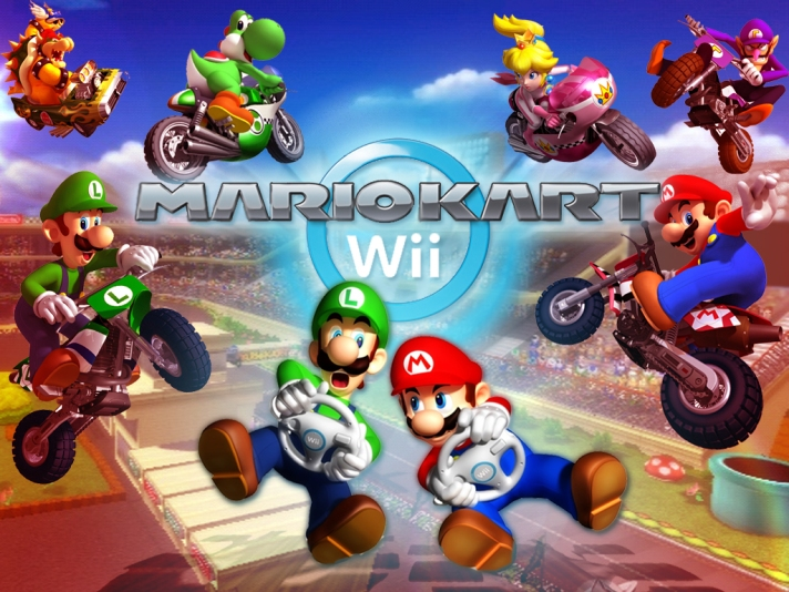 Retro Gaming Mario Kart Wii 2008 Gaming Hearts Collection